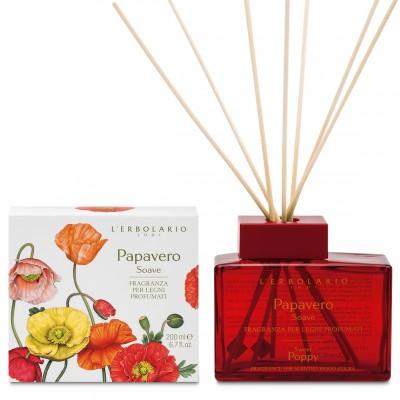 Miris za prostor s drvenim štapićima Papavero Soave